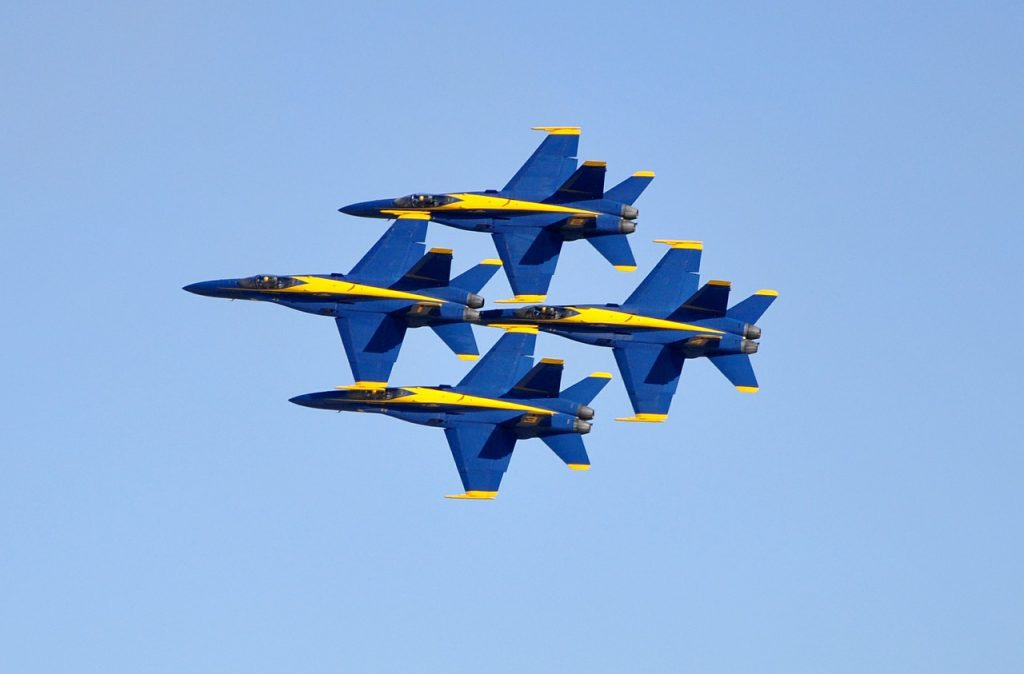Blue Angels are team players