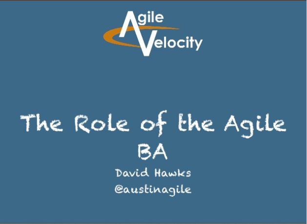 The Role of the Business Analyst in Agile
