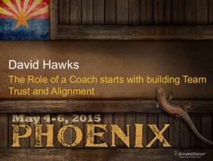 Coach Role starts with building Team trust and Alignment