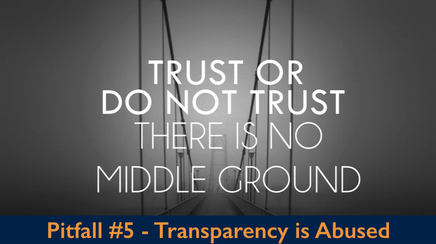 Trust or do Not Trust, There is No Middle Ground - Transparency