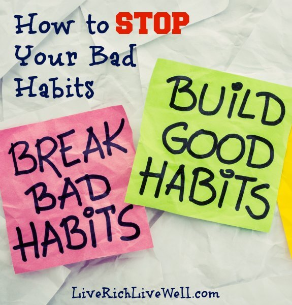 break bad Agile habits, build good habits - motivational reminder on colorful sticky notes - self-development concept