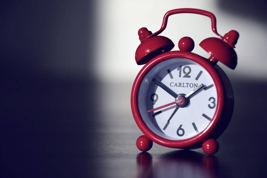 Alarm clock signals when it's time for the teams next Scrum Events