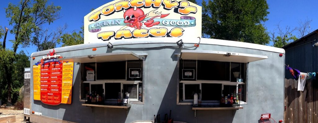 Image of the Torchy's Tacos food truck in Austin, Tx
