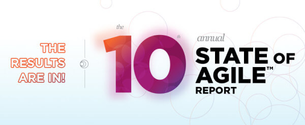 Banner for the 10th Annual State of Agile Report from VersionOne