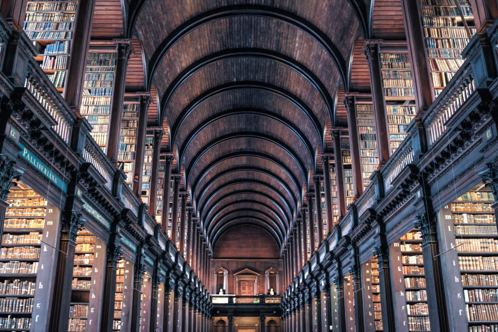 Agile books to read from Agile2016 - picture of a vast library