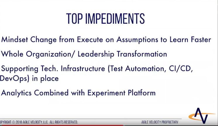 Top impediments to Next Level Agile that we see