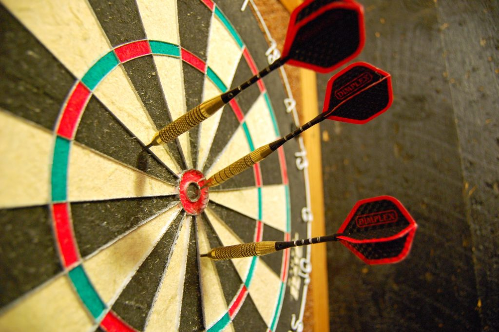 You can't re-throw a dart just like you shouldn't re-estimate story points