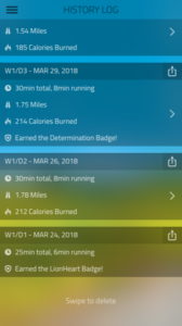 Personal Agility Blog: Andy's data from his first week of running. Per day numbers: 1.54 miles run. 30 minutes total per day. Only 8 minutes actually running per day.