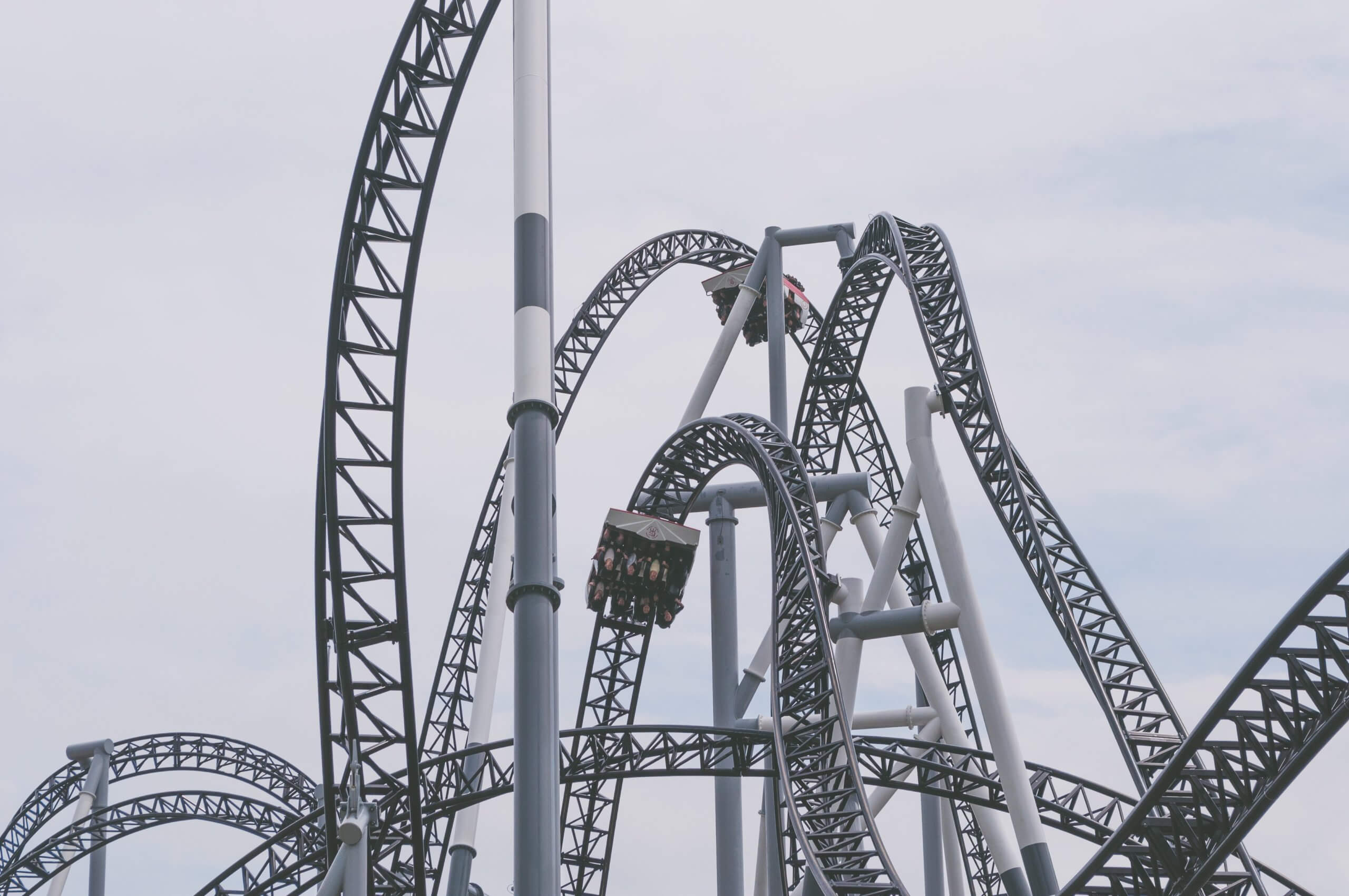An image of a roller coaster which represented the twists and turns my professional life has experienced with this virus.