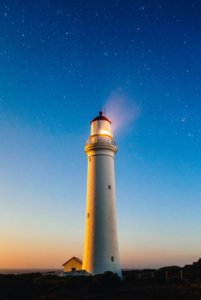 A lighthouse which symbolizes the leadership skills that are needed to guide teams during volatile times.