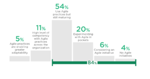 Agile Maturity graph from the 14th Annual State of Agile Report by Digital.ai
