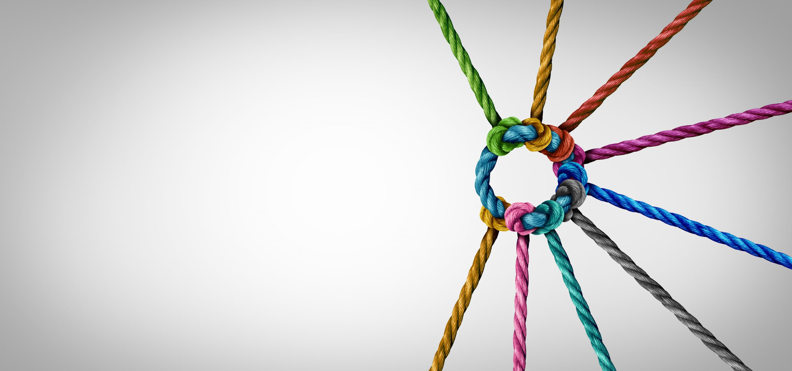 An image of a knot representing how a team aligns in a product organization